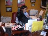 Debbie in office