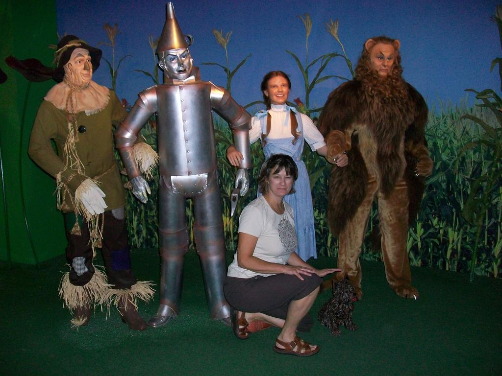 Debbie and her Wizard of Oz Friends