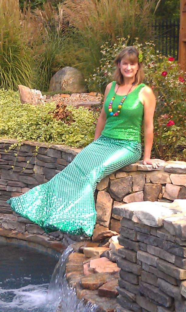 Debbie as a mermaid
