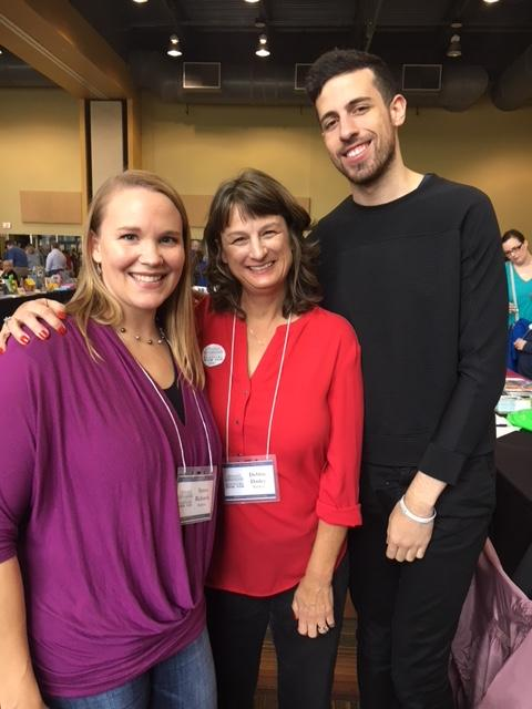 Teresa Richards, Debbie, and Adam Silvera