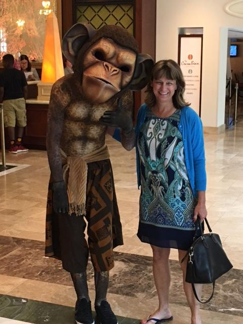 Jungle Book monkey and Debbie