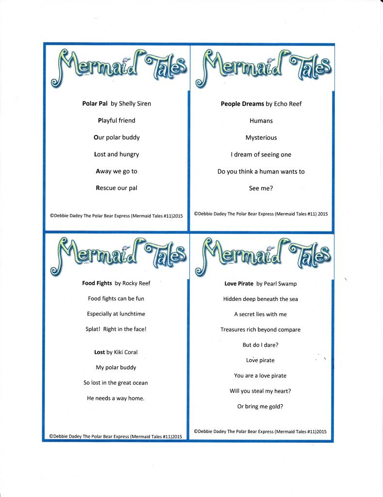 Mermaid poetry cards