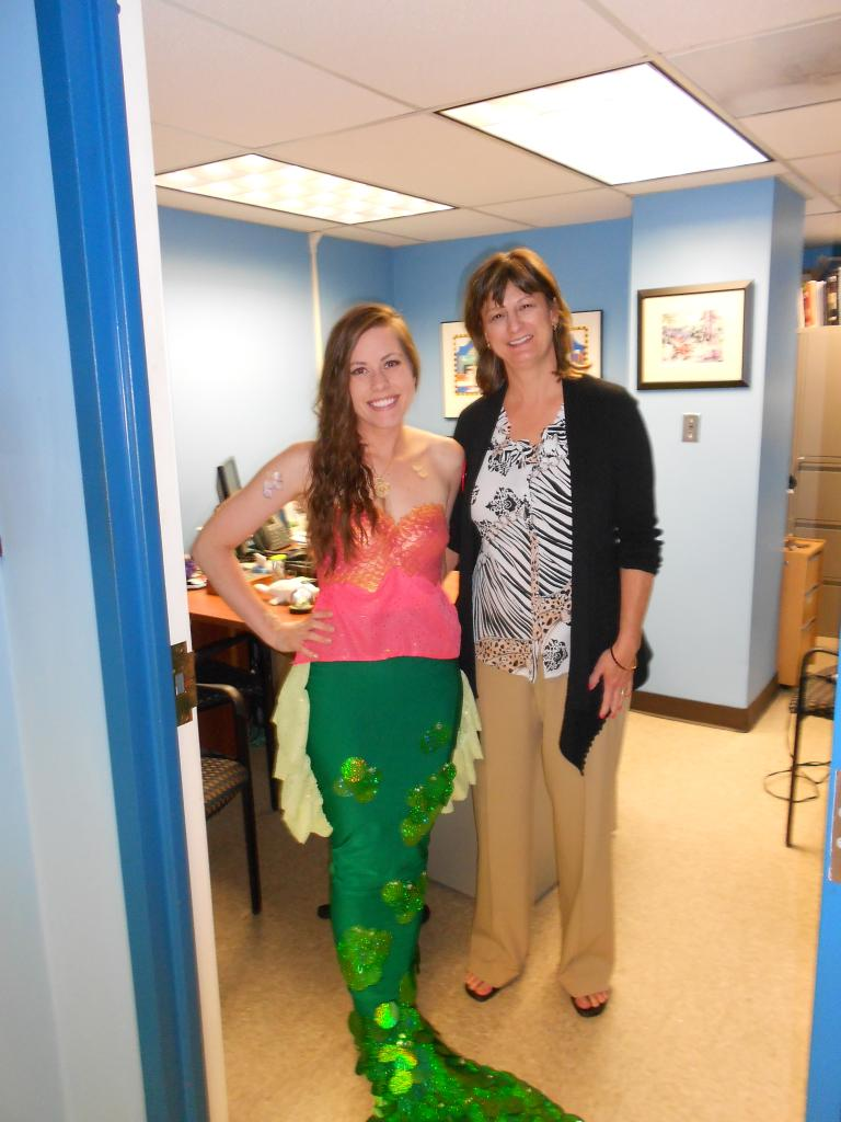 Debbie and mermaid