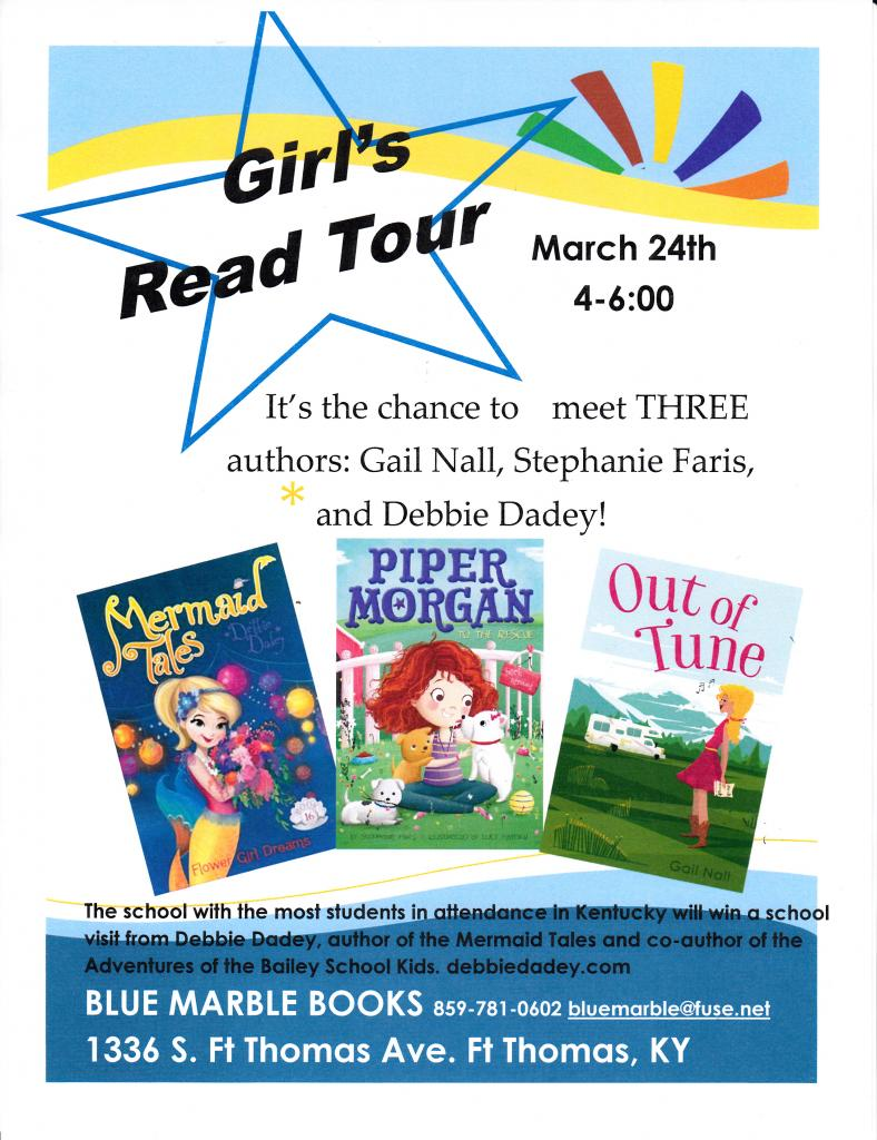 Girls Read Tour at Blue Marble Books