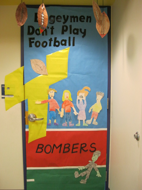 bogeymen door display