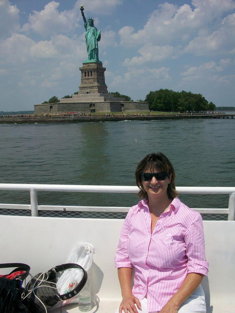 Debbie and the Statue of Liberty