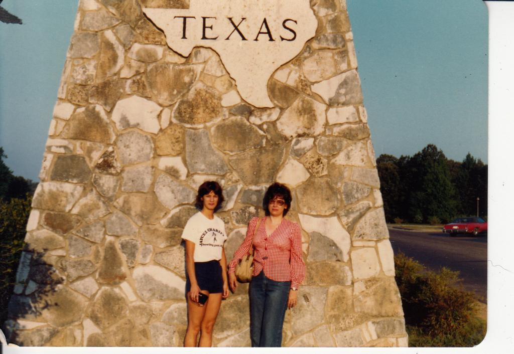 Mom and Debbie in Texas