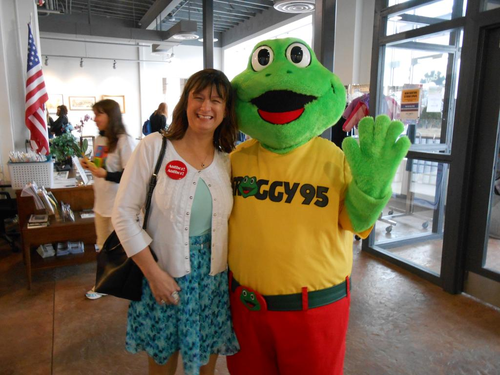 Debbie and Froggy at the Johnstown Book Festival