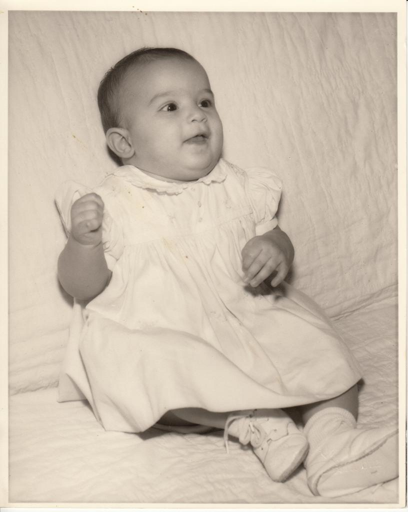 Debbie as a baby
